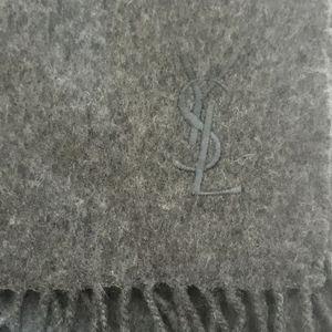 Authentic Yves Saint Laurent 100% wool scarf